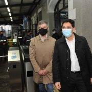 El intendente de Hurlingham y el presidente de Trenes Argentinos recorrieron las nuevas cámaras termográficas de la estación local del San Martín