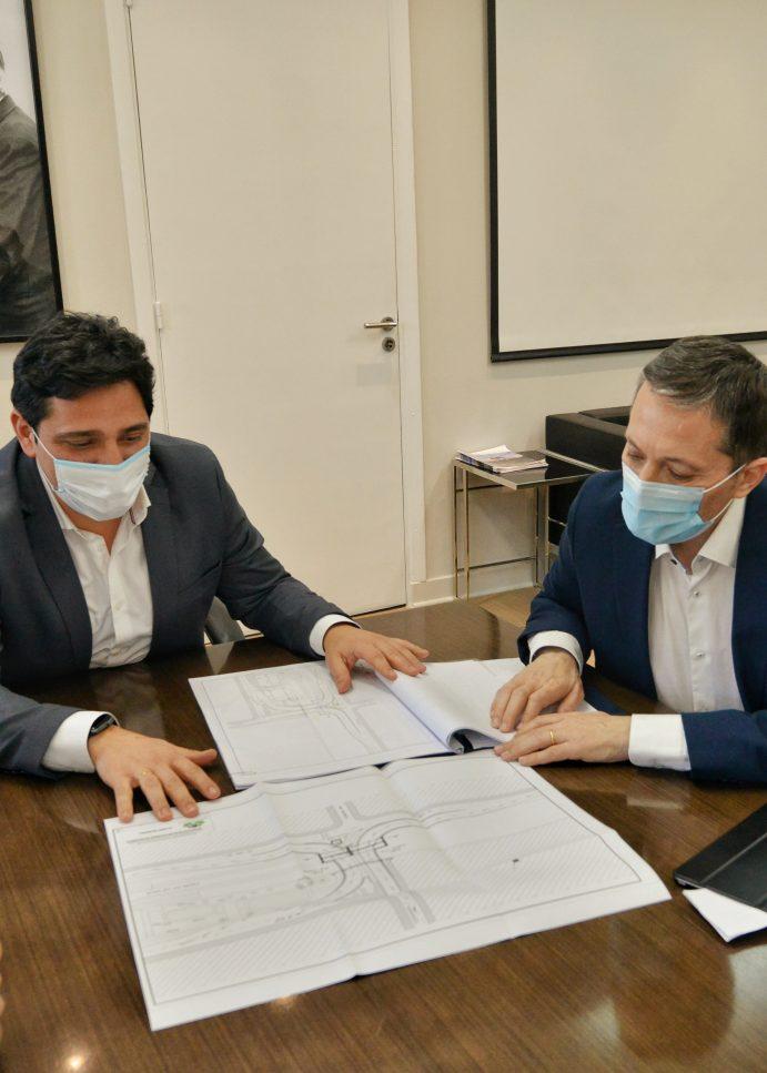 El intendente de Esteban Echeverría se reunió con el presidente de Trenes Argentinos