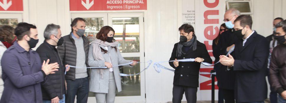 Mariel Fernández y Axel Kicillof inauguraron en la localidad Cuartel V el CAPS «6 de enero» y el Hospital Modular