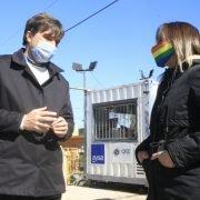 Malena Galmarini y Lucas Ghi visitaron una obra que va a expandir las cloacas para más de 42 mil vecinos y vecinas de Morón