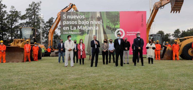 Mario Meoni anunció múltiples obras ferroviarias en La Matanza, por más de 4 mil millones de pesos