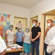 """Otermín en un operativo de vacunación en Ezeiza, y una expectativa optimista frente al Covid: """"Hay un horizonte de salida próximo"""""""