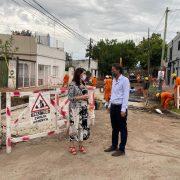 Katopodis y Mariel Fernández recorrieron obras en Moreno: «La Argentina necesita también de obras para consolidar los barrios»