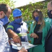 Alberto Descalzo y Malena Galmarini pusieron en servicio la red secundaria de agua potable, en el barrio 9 de septiembre
