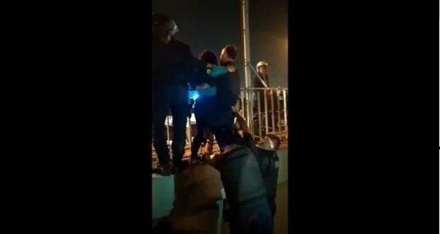 Rescate de una joven que intentaba suicidarse en el puente Santa Rosa