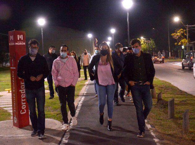 Se renovó la luminaria del Corredor Ferré de Castelar Sur
